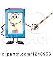 Clipart Of A Color Ink Cartridge Character Mascot Using A Pointer Stick Royalty Free Vector Illustration