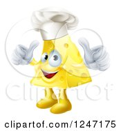 Happy Cheese Chef Holding Two Thumbs Up