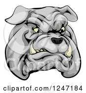 Clipart Of A Sports Bulldog Mascot Face Royalty Free Vector Illustration