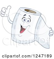 Clipart Of A Happy Toilet Paper Character Giving A Thumb Up Royalty Free Vector Illustration