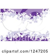 Clipart Of A Purple And White Butterfly Wave Background Royalty Free Vector Illustration