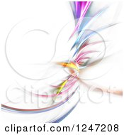 Clipart Of A Colorful Fractal Spiral On White Royalty Free Illustration