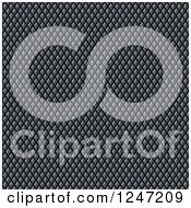 Clipart Of A Seamless Diamond Textured Metal Background Royalty Free Illustration