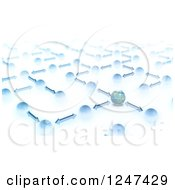 Clipart Of A 3d Network Of Earth Globes And Arrows Royalty Free Illustration by Mopic