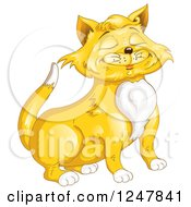 Clipart Of A Proud Ginger Cat Royalty Free Vector Illustration