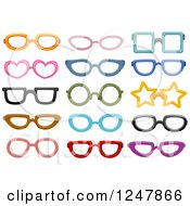 Clipart Of Colorful Eye Glasses Royalty Free Vector Illustration by BNP Design Studio