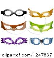 Clipart Of Face Eye Masks Royalty Free Vector Illustration