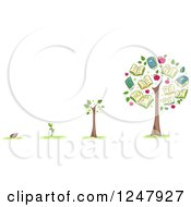 Clipart Of A Seed From Start To Tree Showing Educational Growth Royalty Free Vector Illustration