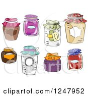 Clipart Of Canning Jars Royalty Free Vector Illustration