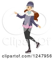 Clipart Of A Teen Girl In Winter Apparel Royalty Free Vector Illustration by BNP Design Studio