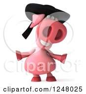 Clipart Of A 3d Breton Pig Royalty Free Illustration