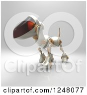 Clipart Of A 3d Robot Dog Walking 6 Royalty Free Illustration by Julos