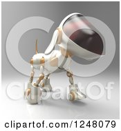 Clipart Of A 3d Robot Dog Walking 8 Royalty Free Illustration