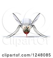 Clipart Of A 3d Mosquito Chef Royalty Free Illustration