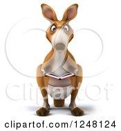 3d Kangaroo Reading A Book