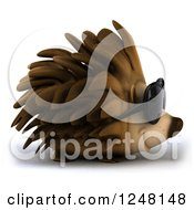 Clipart Of A 3d Happy Hedgehog Wearing Sunglasses And Facing Right Royalty Free Illustration by Julos