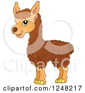 Clipart Of A Cute Llama Royalty Free Vector Illustration by visekart