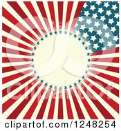 American Stars And Stripes Background With Circular Text Space