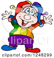 Happy Clown Holding His Arms Out