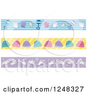 Clipart Of Borders Of Baby Items Royalty Free Vector Illustration