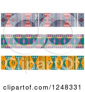 Clipart Of Ethnic Pattern Borders Royalty Free Vector Illustration