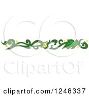 Clipart Of A Green And Yellow Vine Border Royalty Free Vector Illustration
