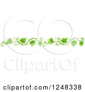 Clipart Of A Green Leafy Vine Border Royalty Free Vector Illustration