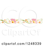 Clipart Of A Colorful Floral Vine Border Royalty Free Vector Illustration by BNP Design Studio