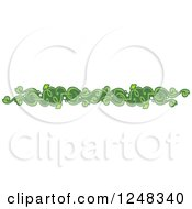 Clipart Of A Green Vine Border Royalty Free Vector Illustration