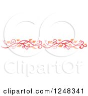 Clipart Of A Red And Orange Vine Border Royalty Free Vector Illustration