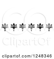 Clipart Of A Vintage Black And White Floral And Swirl Border Royalty Free Vector Illustration