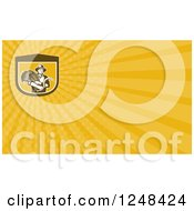 Clipart Of A Farmer Harvesting Wheat Background Or Business Card Design Royalty Free Illustration
