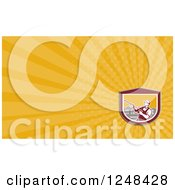 Clipart Of A Pressure Washer Background Or Business Card Design Royalty Free Illustration