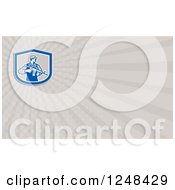 Clipart Of A Soldier With An Assault Rifle Background Or Business Card Design Royalty Free Illustration