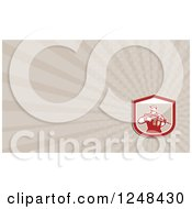 Clipart Of A Background Or Business Card Design Royalty Free Illustration