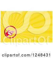 Clipart Of A Shooter Background Or Business Card Design Royalty Free Illustration