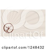 Clipart Of A Lumberjack Arborist Background Or Business Card Design Royalty Free Illustration