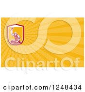 Clipart Of A Butcher Background Or Business Card Design Royalty Free Illustration