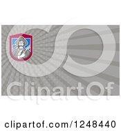 Clipart Of A Patriot Solder With A Flintlock Background Or Business Card Design Royalty Free Illustration by patrimonio