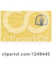 Clipart Of A Coal Miner Background Or Business Card Design Royalty Free Illustration