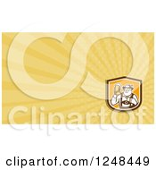 Clipart Of A German Man With Beer Background Or Business Card Design Royalty Free Illustration
