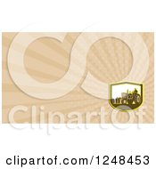 Clipart Of A Farmer And Tractor Background Or Business Card Design Royalty Free Illustration