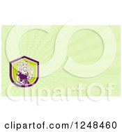 Clipart Of A Juggling Jester Background Or Business Card Design Royalty Free Illustration by patrimonio