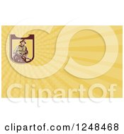 Clipart Of A Fireman Background Or Business Card Design Royalty Free Illustration