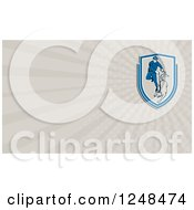 Clipart Of A Security Guard And Police Dog Background Or Business Card Design Royalty Free Illustration
