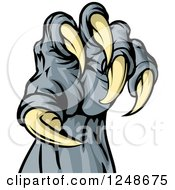 Clipart Of A Monster Claw With Sharp Talons Royalty Free Vector Illustration by AtStockIllustration