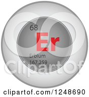Clipart Of A 3d Round Red And Silver Erbium Chemical Element Icon Royalty Free Vector Illustration