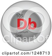 3d Round Red And Silver Dubnium Chemical Element Icon