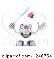 Clipart Of A 3d Soccer Ball Character Waving A Japanese Flag Royalty Free Illustration by KJ Pargeter
