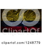 Clipart Of A 3d Crumpled Silky Colombian Flag Royalty Free Illustration